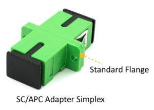 SC APC simplex adapter standard flange