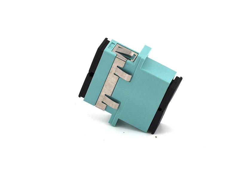 SC OM3 Duplex Adapter, Optical Coupler, Anti-shake Clip