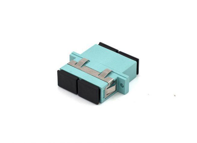SC OM3 Duplex Adapter / Coupler, Anti-shake Clip