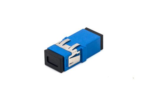 SC Single-mode Fiber Adapter, Simplex Coupler, Anti-shake Clip