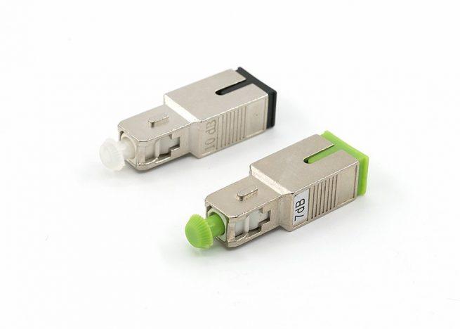 Male Female SC/APC Fiber Optic Attenuator single mode 1dB, 3dB, 5dB, 7dB, 10dB, 15dB, 20dB