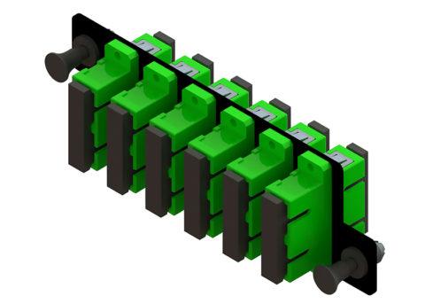 High Density Fiber Adapter Panel, SC Duplex Adapters, 12 Port