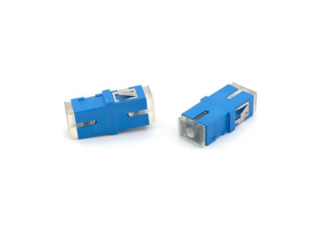 SC Fiber Optic Adapter with Transparent Dust Cap