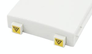 SC shutter fiber optic adapter in outlet box