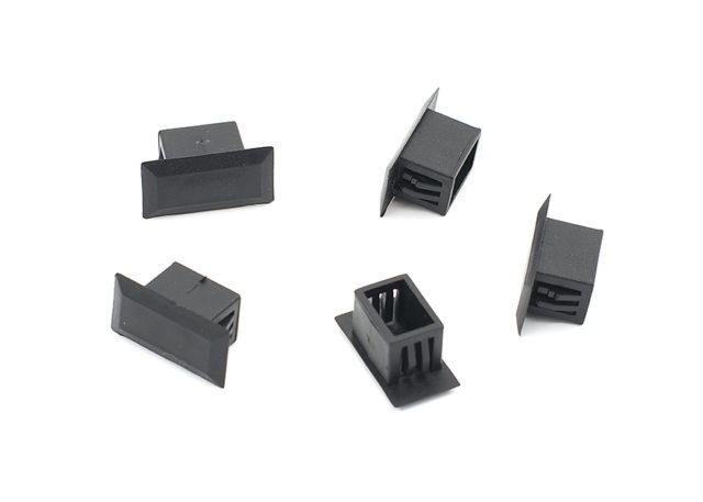 fiber optic blank plug, blank insert, cover for SC simplex adapter hole on fiber patch panel, enclosure, box, LIU