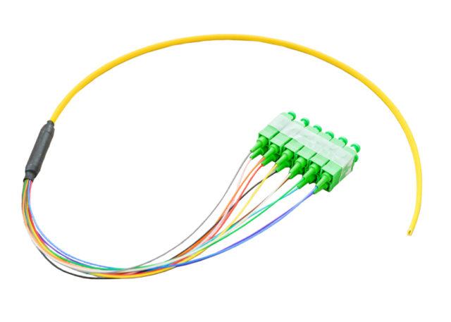 SC/APC Single Mode Ribbon Fiber Optic Pigtail 12 Cores