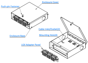 WOB-L1P-SC12F Wall Mount Fiber Box drawing