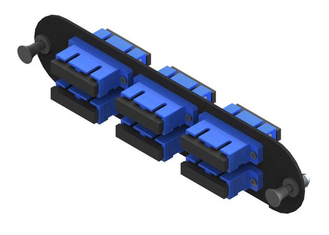 12 Fiber Adapter Panel w/ 6 Duplex SC Adapters