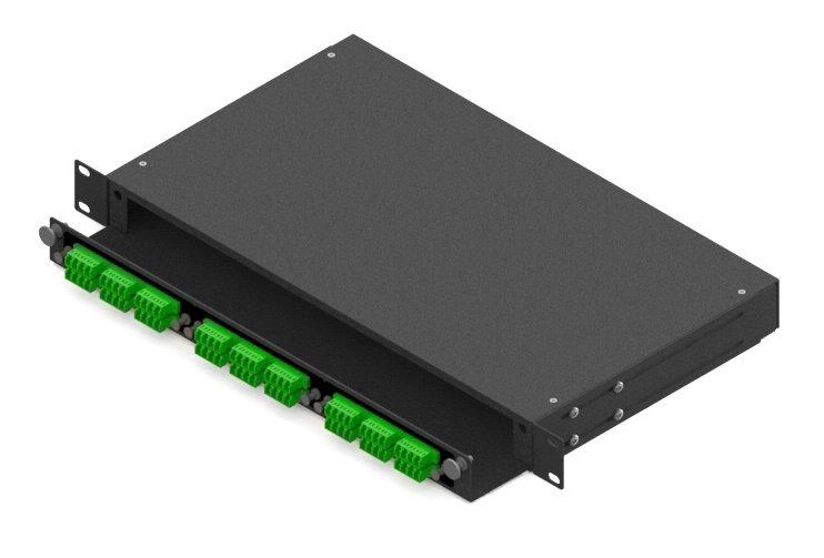 drawer type Rack Mount LGX Fiber Patch Panel 1U, 3 adapter panel