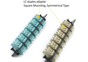 fiber optic adapter panel 12 port LC symmetrical type