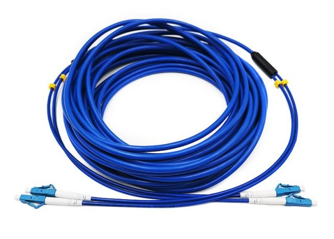 Mini Armored Fiber Patch Cable, 2 Core, Single Round Jacket