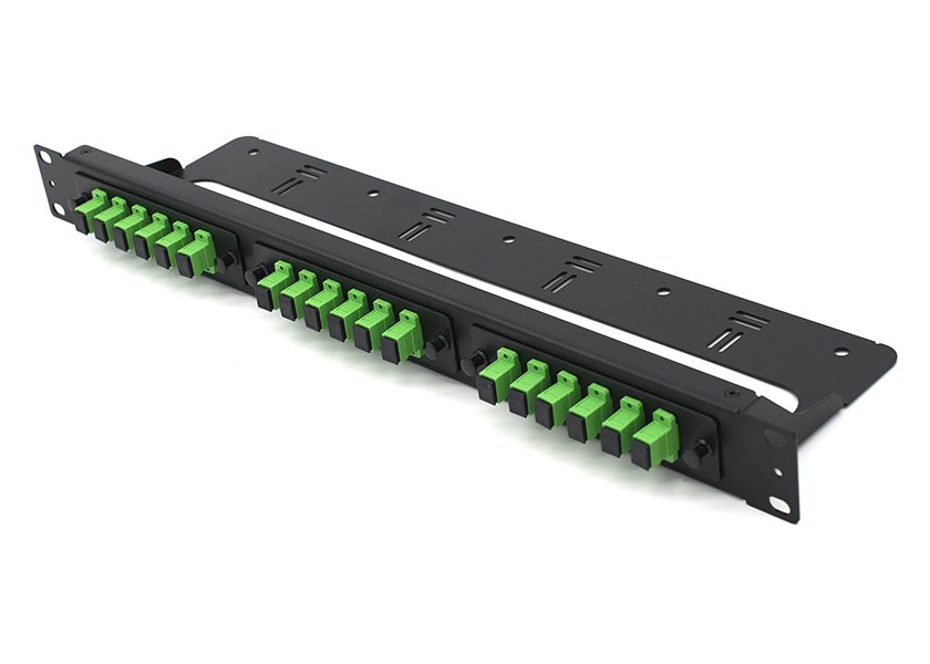 19 Inch Rack Mount 1U Fiber Patch Panel SC 18 Port