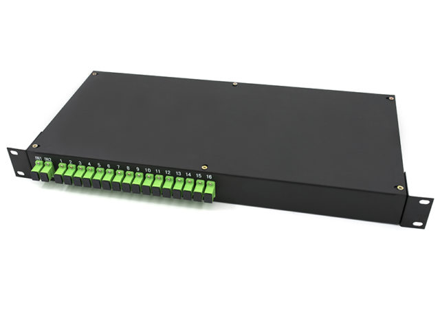 1RU Rack Mount Patch Panel Type 2x16 PLC Fiber Splitter