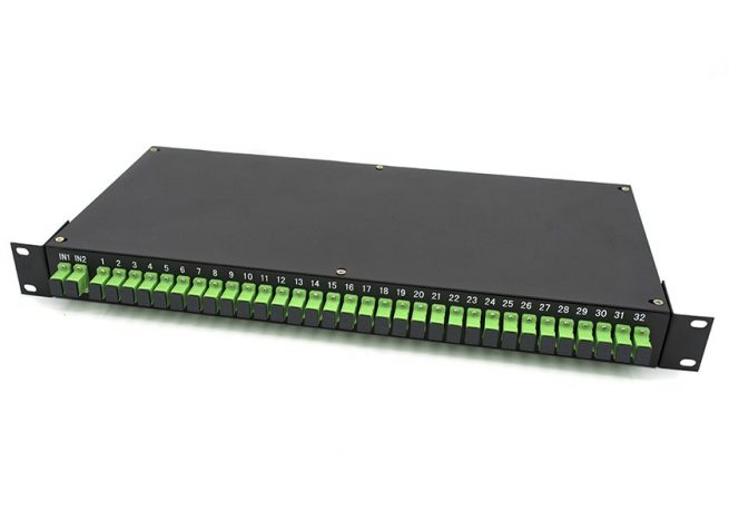 1RU Rack Mount PLC Splitter 2x32, SC/APC Connectors