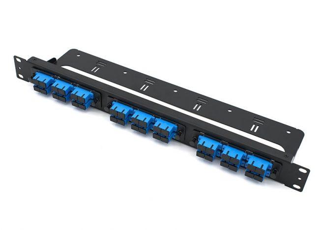 "1U Fiber Patch Panel SC 36 Port, 19"" Rack-mounted"