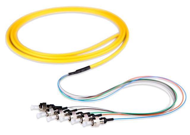 ST Distribution Fiber Pigtail Single Mode 6 Cores