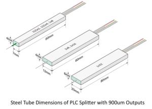 steel tube for PLC splitter with 900um fibers