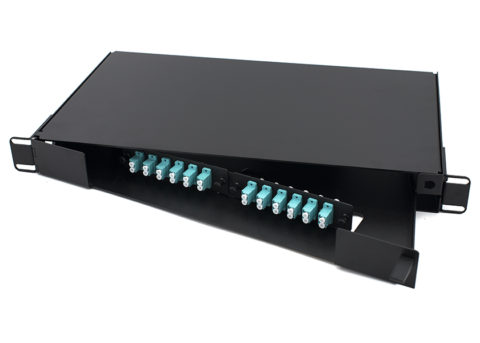 Swing-out 1U LC Fiber Patch Panel 24 Port