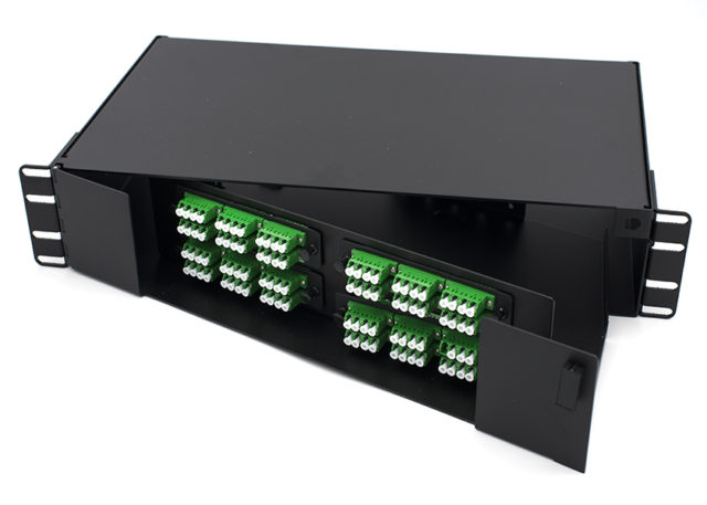 2U Swing-out LC Fiber Patch Panel, 96 Port
