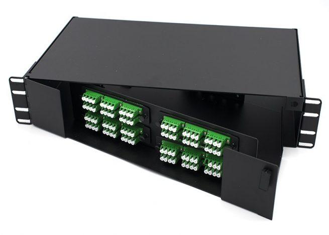 2U Swing-out LC Fiber Patch Panel, 96 Port