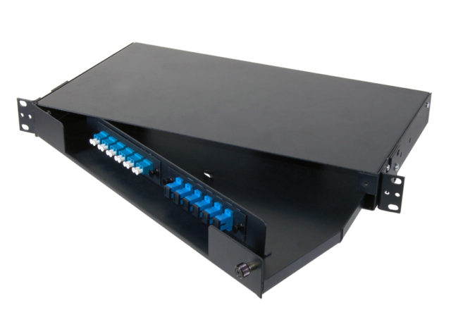 12, 24, 48 Port Swing Out Fiber Optic Patch Panel 1U, fiber distribution panel, LIU