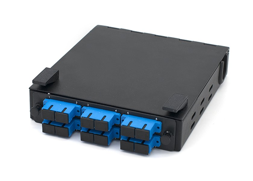 DIN Rail Fiber Enclosure, SC 12 Port Fiber Box