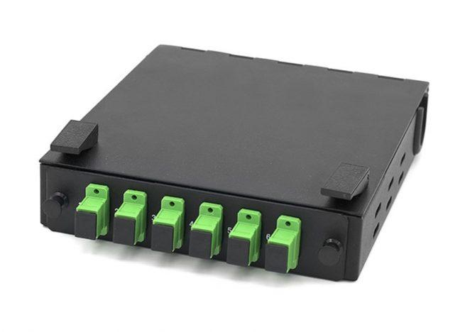 Wall Mount Fiber Box SC 6 Port, DIN rail mounted LIU
