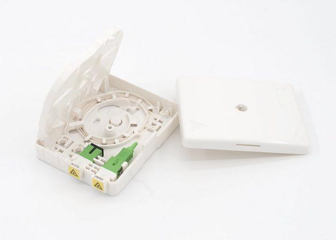 FOB-P0810 wall mount fiber termination box, SC 2 port