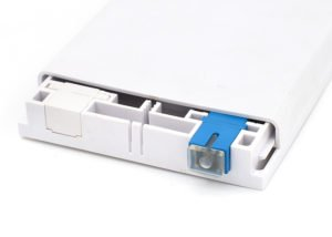 wall outlet box SC adapter with transparent cap
