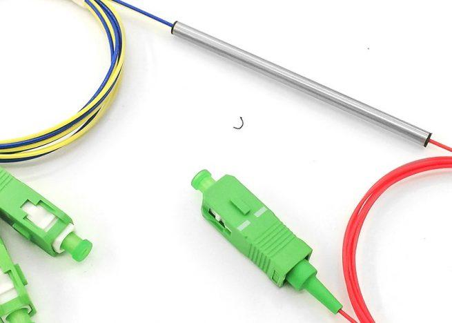 1x2 fused fiber optic coupler, FBT splitter, fusion fiber coupler