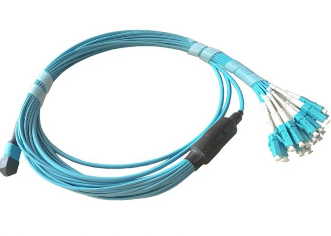 MTP to LC Breakout Fiber Patch Cable, Multimode 10G