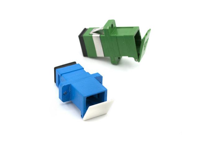 SC Shutter Adapter Simplex, Single-mode Fiber Optic Coupler