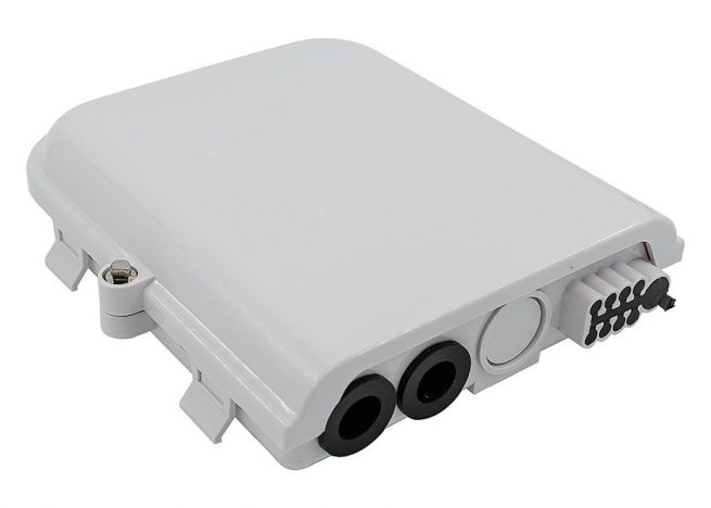 Wall / Pole Mounting 8 Port Fiber Optic Distribution Box/Hub