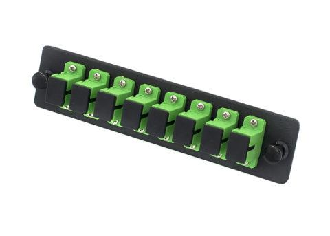 SC APC Fiber Adapter Panel 8 Port, Single Mode