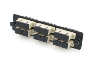 12 Port SC UPC Fiber Adapter Panel, Multimode fiber adapter plate