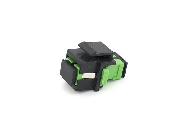 SC/APC Fiber Optic Keystone Jack, Single Mode Coupler