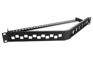 angled patch panel 24 port 1u