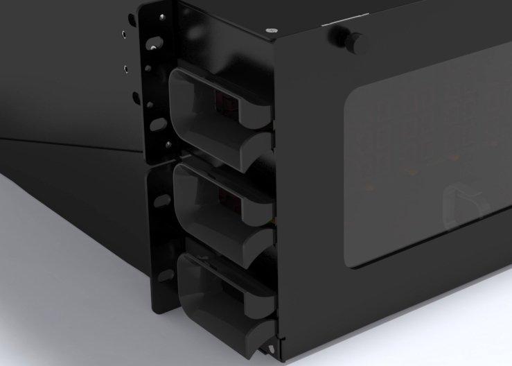 Fiber Cable Protect Bracket on Rack Mount Fiber Patch Panels