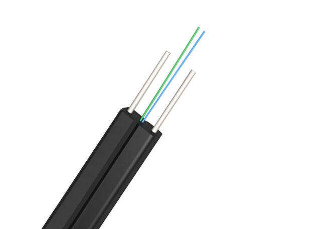 1, 2, 4 Cores Single Mode FTTH Flat Drop Cable, G657A Fibers