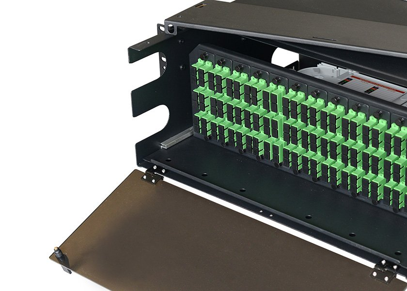 LGX fiber patch panel 12 panel type, rack mount fiber enclosure, LIU