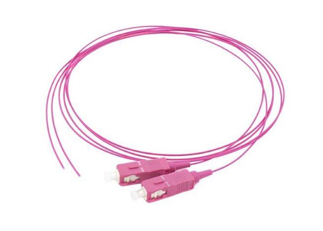 SC OM4 fiber optic pigtail