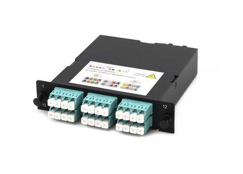 MPO / MTP Fiber Cassette Module, OM3, 24 Core